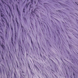 FabricLA Faux Fake Fur Shaggy Fabric by The Yard - Lavender - Free Shipping Within USA - FabricLA.com