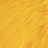 FabricLA Faux Fake Fur Shaggy Fabric by The Yard - Yellow - Free Shipping Within USA - FabricLA.com