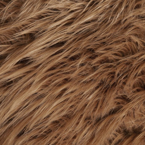 FabricLA Faux Fake Fur Shaggy Fabric by The Yard (Brown) -Free Shipping Within USA - FabricLA.com