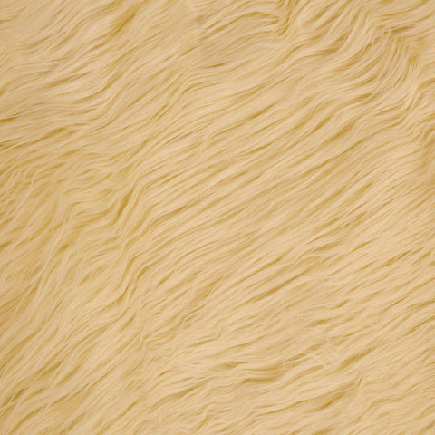 FabricLA Faux Fake Fur Shaggy Fabric by The Yard - (Ivory) Free Shipping Within USA - FabricLA.com