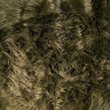FabricLA Fake Fur Shaggy Fabric by The Yard - Olive - Free Shipping Within USA