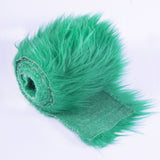 FabricLA Faux Fur Vegan Animal Friendly Designer Fashion Mohair Fabric Kelly Green