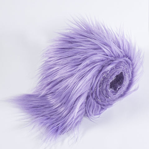 FabricLA Faux Fur Vegan Animal Friendly Designer Fashion Mohair Fabric Lavender