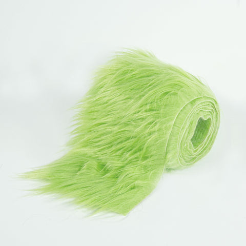 FabricLA Faux Fur Vegan Animal Friendly Designer Fashion Mohair Fabric Lime