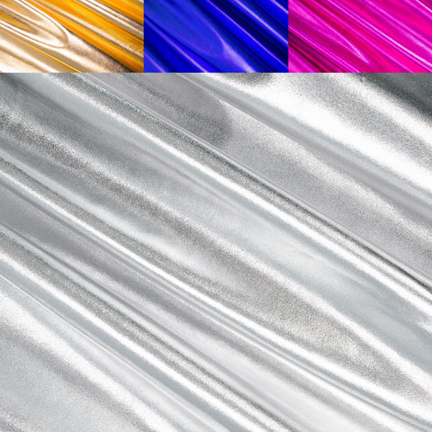 Metallic Foil Spandex Fabric by the Yard
