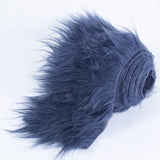 FabricLA Faux Fur Vegan Animal Friendly Designer Fashion Mohair Fabric Navy Blue