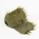 FabricLA Faux Fur Vegan Animal Friendly Designer Fashion Mohair Fabric Olive