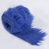 FabricLA Faux Fur Vegan Animal Friendly Designer Fashion Mohair Fabric Royal Blue