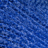 Luxe Minky Rosebud Fabric - Royal Blue