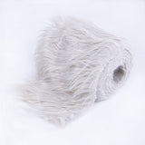 FabricLA Faux Fur Vegan Animal Friendly Designer Fashion Mohair Fabric Platinum Gray