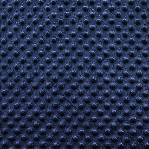 Minky Dimple Dot Fabric - Navy - FabricLA.com