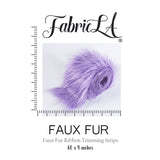 FabricLA Faux Fur Vegan Animal Friendly Designer Fashion Mohair Fabric Purple