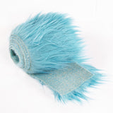 FabricLA Faux Fur Vegan Animal Friendly Designer Fashion Mohair Fabric Turquoise