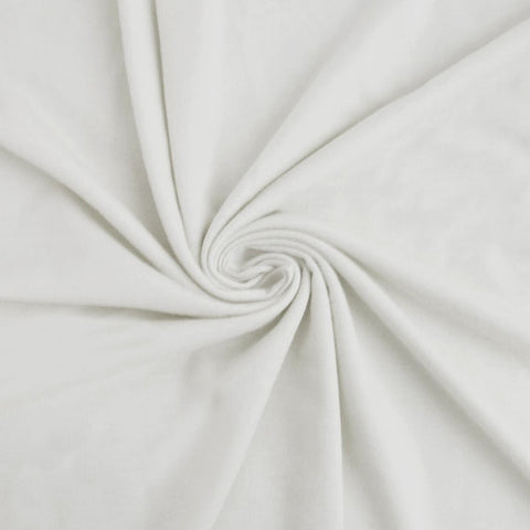 White 100% Cotton French Terry Fabric by the yard