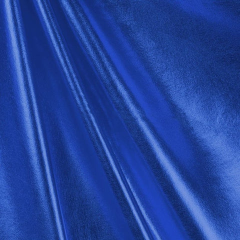 Metallic Foil Spandex Fabric by the yard - Royal Blue (WZ1) - FabricLA.com