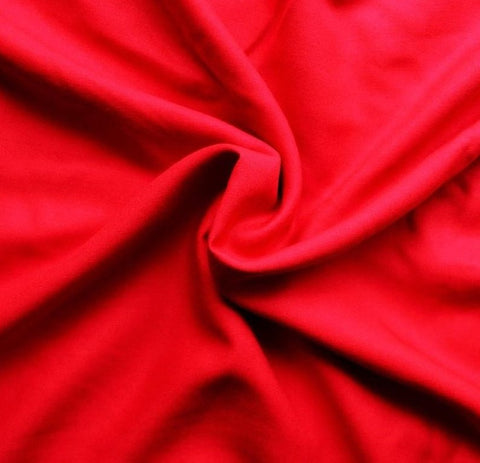 Brushed Polyester Microfiber Wipeout Fabric by the yard - RED - FabricLA.com