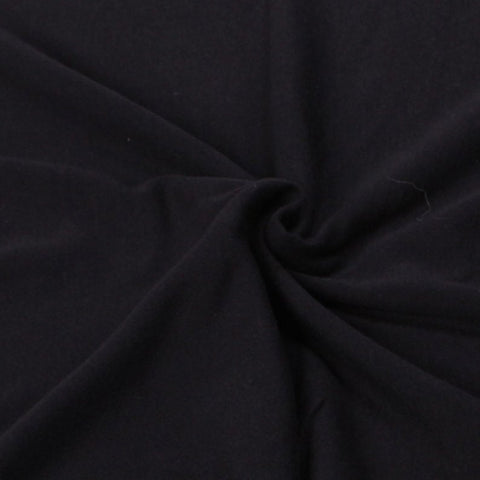 Cotton Lycra Spandex Knit Jersey Fabric by the yard 10oz - Black - FabricLA.com