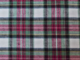 Cotton Flannel Plaid Tartan fabric by the yard - FabricLA.com