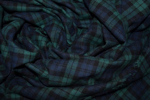 Cotton Flannel Plaid Tartan Fabric by the yard Style#5 - FabricLA.com