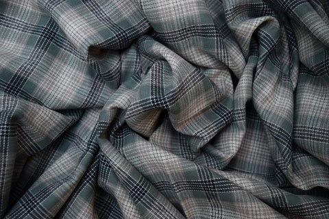 Cotton Flannel Plaid Tartan fabric By The Yard Style#17 - FabricLA.com