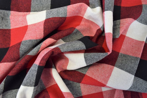 Cotton Flannel Plaid Tartan Fabric By The Yard Style#19 - FabricLA.com