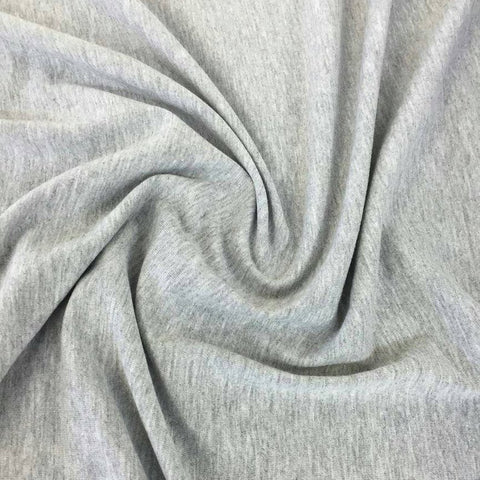 Cotton Lycra Spandex Knit Jersey by the yard -12 oz (Heather Grey) - FabricLA.com