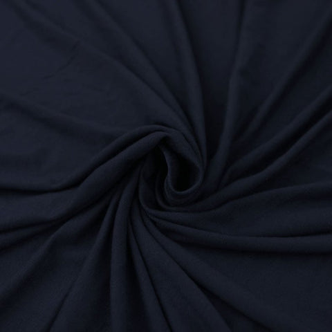 Cotton Lycra Spandex Knit Jersey by the yard -12 oz - Navy - FabricLA.com