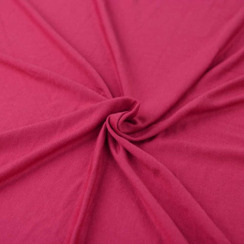 Cotton Lycra Spandex Knit Jersey by the yard -12 oz Hot Pink - FabricLA.com