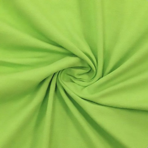 Cotton Lycra Spandex Knit Jersey by the yard -12 oz - Lime - FabricLA.com