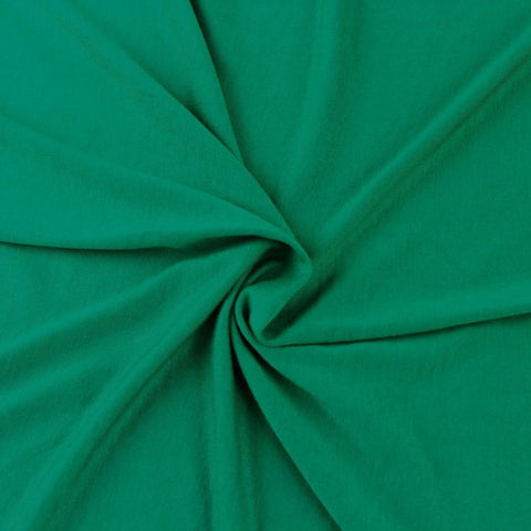 Cotton Lycra Spandex Knit Jersey by the yard -12 oz - Kelly Green - FabricLA.com