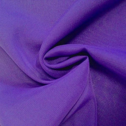 Hi Multi Chiffon Fabric sold by the yard - Purple (LF1) - FabricLA.com