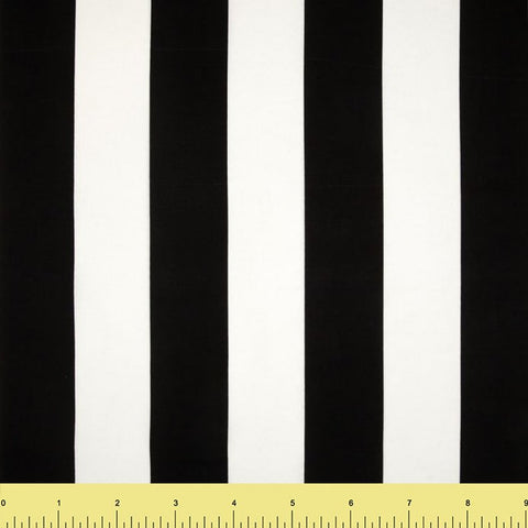 Cotton Lycra Spandex Knit Jersey by the yard -14 oz - Black & White Stripes - FabricLA.com