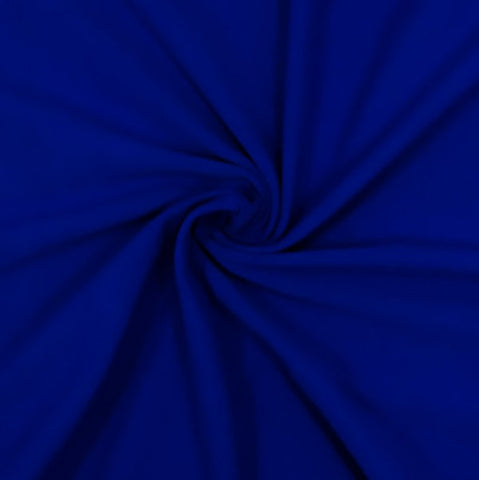 Cotton Lycra Spandex Knit Jersey by the yard -12 oz - Royal - FabricLA.com
