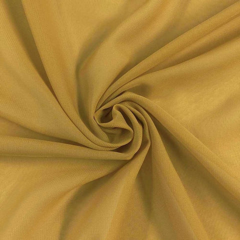 Hi Multi Chiffon Fabric sold by the yard - Gold (LF1) - FabricLA.com