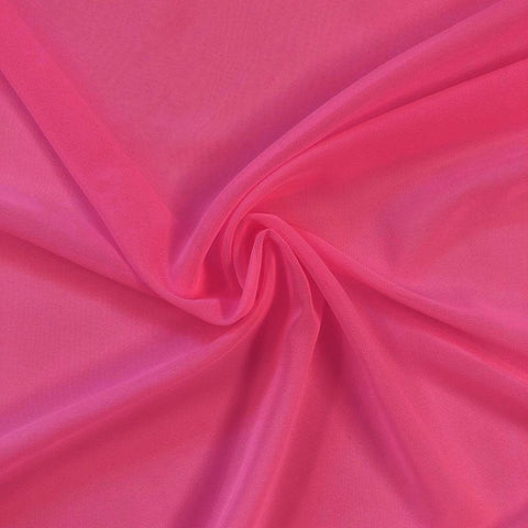 Hi Multi Chiffon Fabric sold by the yard - Bubblegum Pink (LF1) - FabricLA.com