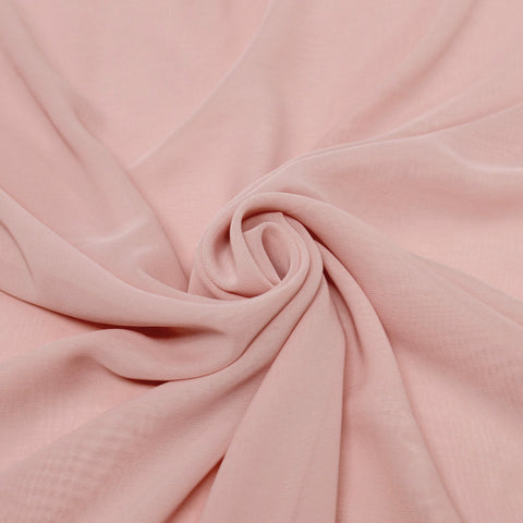 Hi Multi Chiffon Fabric by the Yard Dusty Rose - FabricLA.com