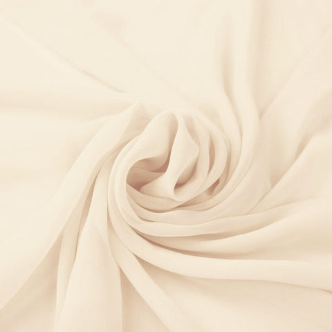 Hi Multi Chiffon Fabric by the Yard Ivory - FabricLA.com