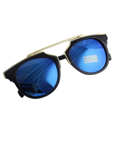 Blue Statement Eyewear Summer Sunglasses