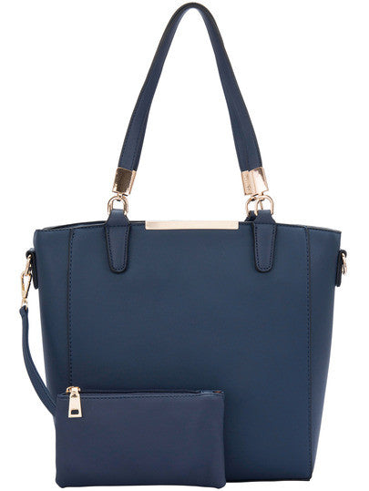 Dark Blue Two Pieces Shoulder Bag