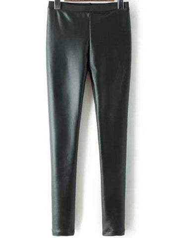Black PU Slim Pant