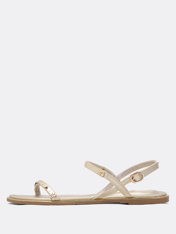 Gold Plate Strap Gold Flats