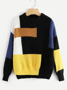 Color Block High Low Jumper