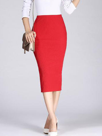 Long Pencil Skirts For Womens Sexy Slim Package Hip Maxi Skirt Ladies