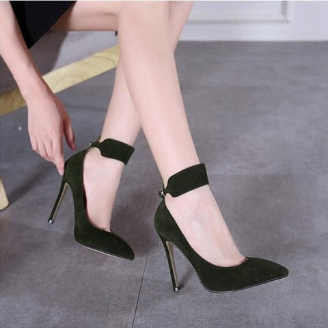 Elegant High Heels Shoes Pointed Toe Women Sexy Shoes Thin Heel