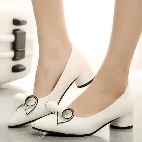 Elegant Female Shoes Pointed Toe Women's Pumps PU