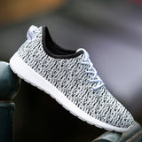 Women Casual Shoes Fashion Breathable Shoes Grey Black Lacing Flat