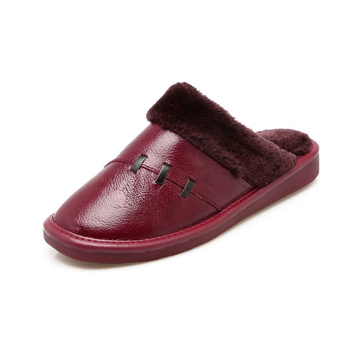 Shoes Genuine Leather Lovers Slippers Home Indoor Short
