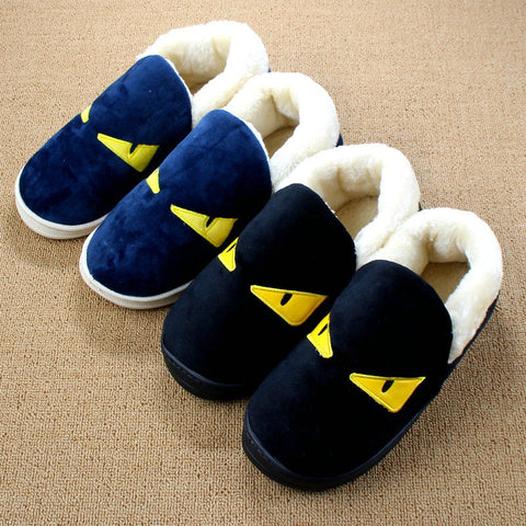 Slipper Animal Flat Shoes Pantuflas Cotton-padded Plush Warm Pantufas