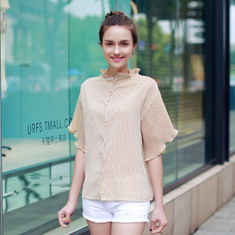Blouse Summer Style Batwing Sleeve Casual Chiffon Blouse Vintage Shirts
