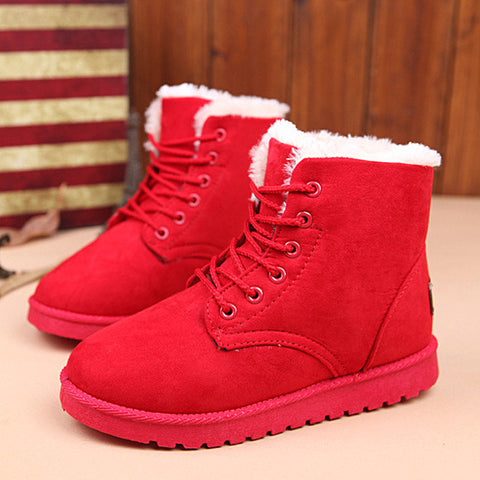 Women Boots Lace Up Ankle Boots Shoes